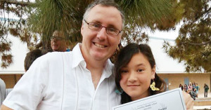 Patrick Fitzpatrick, Scratch Coach for Design Code Build with his daughter