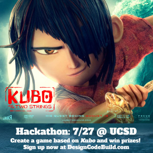 Kubo and the Two Strings - Design Code Build Hackathon at UCSD 7/29
